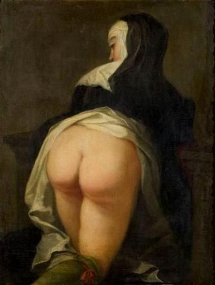 Nun Kneeling, Reverse