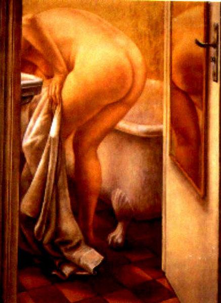 Ana Maria en el  baño