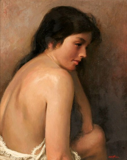 Back View Of Nude Woman
