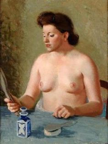 Femme nue au miroir