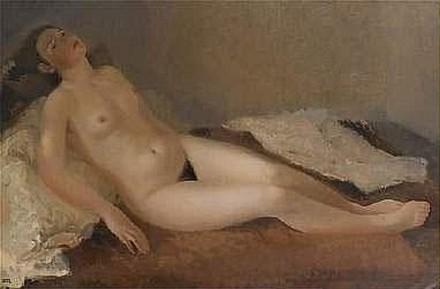 Jeune femme nue couchée