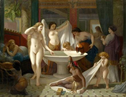Jeunes femmes au bain - Femmes grecques au bain